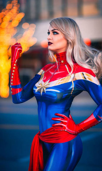 captain marvel cosplay suits