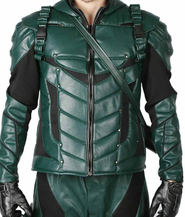 green arrow leather suit